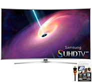 Samsung 65 Class LED 4K SUHD Curved Smart TV,App Pack & HDMI - E288313