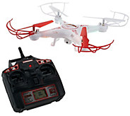 Striker Drone w/ Video Camera Flip Stunt Mode LEDLights, Apps & Extra Battery - E228614