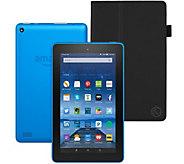Amazon Fire 7 8GB Tablet w/ Folio Case & Audible/Music Voucher - E230714