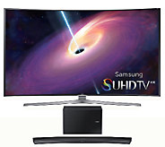 Samsung 78 LED 4K SUHD Curved Smart TV w/ Curved Sound Bar - E287214
