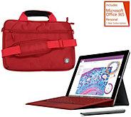 Microsoft Surface 3 64GB Stylus, Office, Sleeve,Keyboard Lifetime Tech - E229315