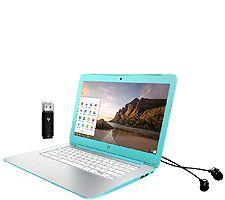HP 14 Chromebook - NVIDIA, 16GB Memory w/ Earbuds, USB Drive