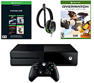 Xbox One 500GB Name Your Game Console Bundle with Overwatch - E289616
