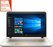 HP 17 Gold Luxe Win. 10 Laptop 8GB RAM 1TB HDD LifeTimeSupport & MS Office 365 - E229317