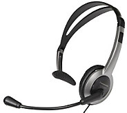 Panasonic Lightweight Headset for Telephones w/Volume Control - E250717