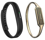 Fitbit Flex 2 Yellow or Rose Gold Plated Bangle or Gold Plated Necklace - E231518