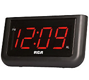RCA RC30 Single Wake Alarm Clock with 1.4 Display - E269818