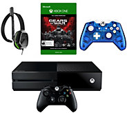 Xbox One 500GB Gears of War Bundle, Headset, Extra Controller - E289618