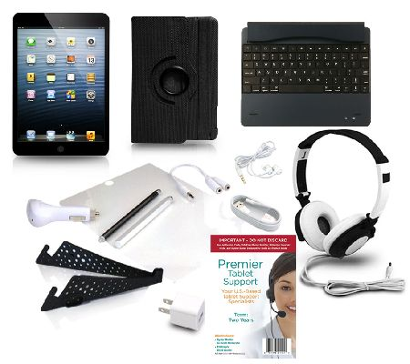 apple ipad mini 2 retina 32gb wifi w 8pc starter kit. Black Bedroom Furniture Sets. Home Design Ideas