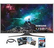 Samsung 55 LED 4K SUHD Smart TV w/ HDMI, App Pack & DVD - E287420
