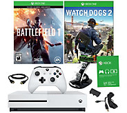Xbox One S 500GB Battlefield 1 Bundle with Watch Dogs 2 - E290320