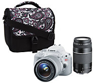 Canon Rebel SL1 18MP DSLR Camera w/ 18-55 STM & 75-300mm Lenses & Accs. - E228021
