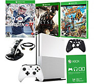 Xbox One S 1TB Madden NFL 17 Bundle with 2 Games and Accessories - E229721