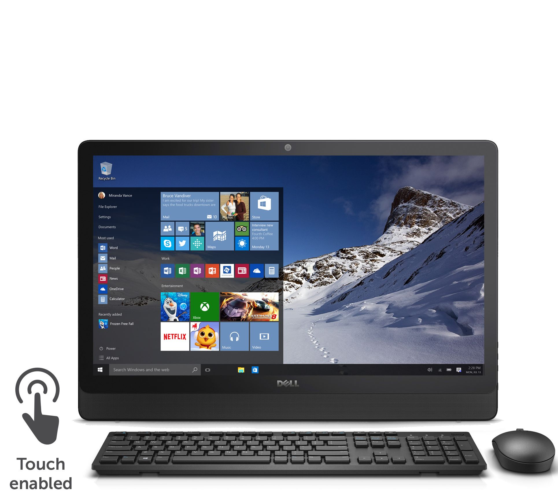 dell 24 touch all in one pc amd quad core 6gb ram 1tb hdd. Black Bedroom Furniture Sets. Home Design Ideas