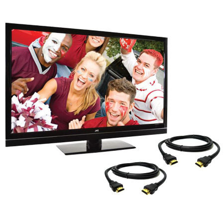 "JVC 42"" Class Full HD 1080p 120Hz LED-LCD HDTVw/2 HDMI Cables"
