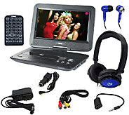 Naxa 10 TFT LCD Swivel Portable DVD Player with Accessories - E284321
