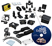 Axess 1080p HD Action Camera Bundle w/ EditingSoftware - E284923
