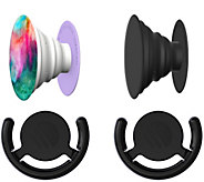 PopSockets Set of 2 Phone & Tablet Stand w/  2Car Mounts - E289223