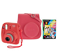 Fujifilm Instax Mini 8 Instant Print Camera w/ Colored Case & 20 Film Sheets - E229924