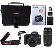 Canon Rebel SL2 DSLR Camera with 18-55mm, 75-300mm Lenses and Accessories - E231424