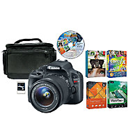 Canon EOS Rebel SL1 18MP DSLR Camera, Case, Card & Software - E280824