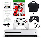 Xbox One S 500GB Console with NBA 2K18 & Three-Month Game Pass - E292724