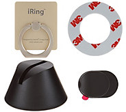 iRing Wearable Adhesive Phone Stand & Dock for Mobile Devices - E229625