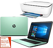 HP 15 Laptop 8GB RAM 1TB HDD Intel Core i3 Two Yr Tech, HP Printer &Office - E229825