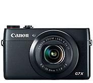 Canon PowerShot G7 X 20.2 Megapixel 4X DigitalCamera - E285025