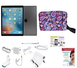 "Apple iPad Pro 32GB w/ 12.9"" Retina Display,  Lifetime Tech,  Case & Accs."
