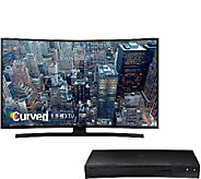 Samsung 40 LED 4K Ultra HD Curved Smart TV w/Blu Ray Player - E287226