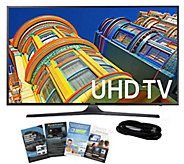 Samsung 55 Smart LED 4K Ultra HDTV with HDMI Cable & App Pac - E289027