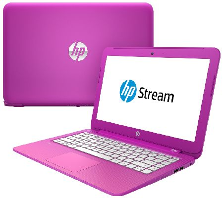 HP Stream 13 Intel Laptop 2GB, 32GB SSD, MS Office 365 & Magenta Case - E227628