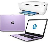 Shp 12/19 HP 15 Laptop 8GB RAM 1TB HD Intel i3 Two-Year Tech & HP WiFi Printer - E229828