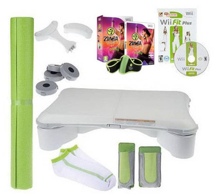 Nintendo Wii Fit Plus 6-Piece Fitness Bundle With Zumba ...