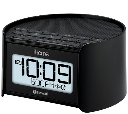 ihome bluetooth dual alarm clock radio e284728. Black Bedroom Furniture Sets. Home Design Ideas