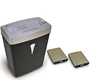 Royal MC500 5-Sheet Microcut Shredder & Two Portable Chargers - E287928