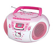 Hello Kitty KT2028A Stereo CD Boombox with Cassette Player - E248829