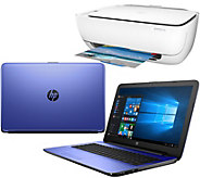 Shp 12/19 HP 17 Laptop 8GB RAM 1TB HD,Intel i3 Two-Year Tech & HP WiFi Printer - E229830