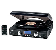 Jensen 3-Speed Stereo Turntable with AM/FM Stereo Radio - E253330