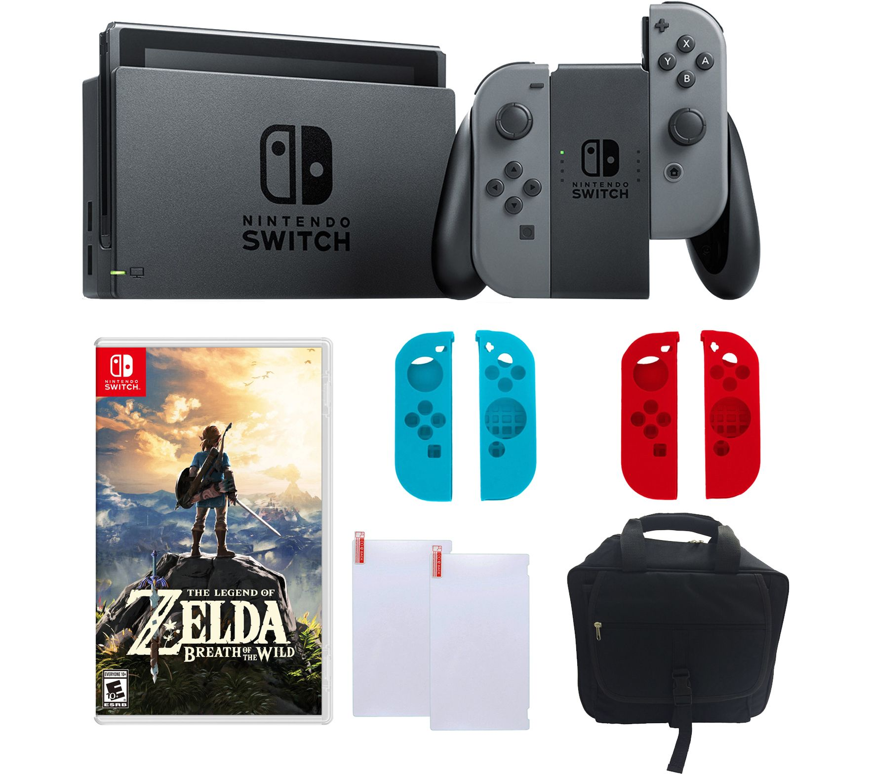 Nintendo switch gray with zelda sleeves accessories for Housse zelda nintendo switch