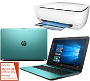 Shp 12/19 HP 17 Laptop 8GB RAM 1TB HD Intel i3 Two Yr Tech, HP Printer &Office - E229831