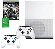 Xbox One S 1TB Gears of War 4 Console w/ BonusController - E290931