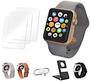 Apple Watch Sport Series 1 38mm with Extra Bands & Accessories - E291931
