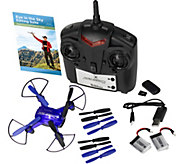 Zero Gravity HD Quad Drone Indoor, Outdoor HD Photo, Video Camera & Remote - E222532