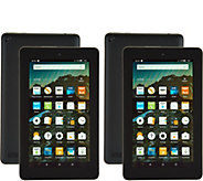 Amazon Fire 2-Pack of 7 Tablets with 2 MatchingCases & 2 App Bundles - E229632