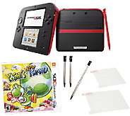 Nintendo 2DS Red with Yoshis New Island & Accessories - E285732