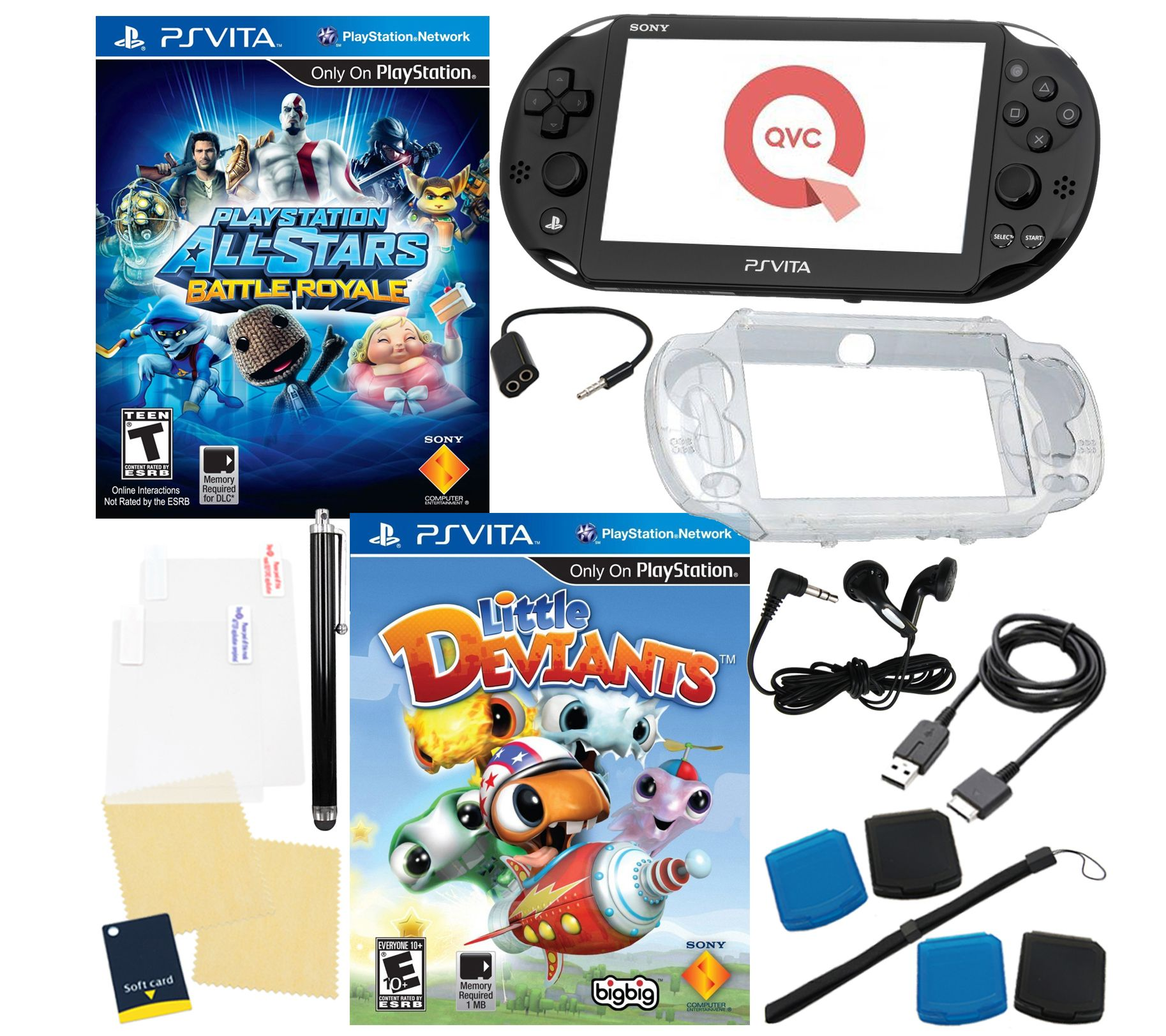 Sony Ps Vita Games : Sony ps vita bundle with games accessories — qvc