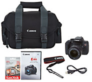 Canon Rebel T6i 24.2MP DSLR w/ 18-55mm STM Lens & Accessories - E229833
