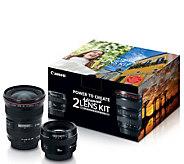 Canon Advanced 2-Lens Kit w/ 50mm f/1.4 & 17-40mm f/4L Lenses - E293833